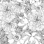Monochrome seamless wallpaper — Stock Vector #4458177
