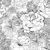 Monochrome seamless wallpaper — Stock Vector