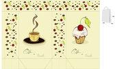 Café y dulces. plantilla para el bolso — Vector de stock