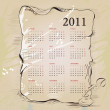 Template for vintage calendar 2011 — Stock Vector