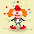 Happy clown — Stock Vector