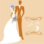 Wedding card with inscription LOVE — Stock Vector