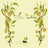 Background with olive — Stock Vector