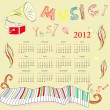 Royalty-Free Stock Vector Image: Original calendar for 2012