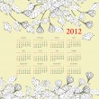 Decorative calendar for 2012 — Stock Vector