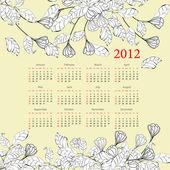 Decorative calendar for 2012 — Stock Vector