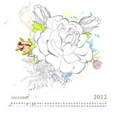 Calendar for 2012 — Stock Vector