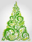 Рождественская елка декоративная абстрактные фона — Cтоковый вектор
