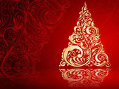 Christmas tree decorative abstraction background — Stockvector