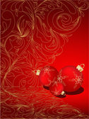 Christmas ball decorative abstraction background — Stock Vector