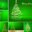 Set of stylized Christmas card — Imagen vectorial
