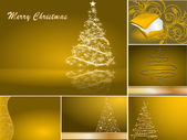 Set of stylized Christmas card — Stock Vector
