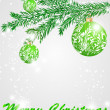 Set of stylized Christmas card - Imagen vectorial