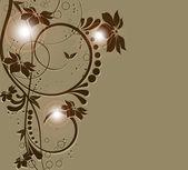 Aziz Sevgililer günü kalp butte ile'deki çiçek arka plan — Stok Vektör