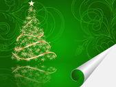 Christmas tree decorative abstraction background — Stock vektor