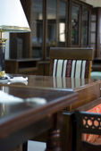 Detail Of AClassic Style Cabinet Furniture In Mahogany — Stock Photo
