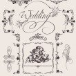 Design Ornate Elements And Wedding Page Decoration. - Stock Vector