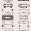 Set Of Vector Frames Ornament Elements In Antique Style. — Stok Vektör