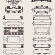 Set Of Vector Frames Ornament Elements In Antique Style. - Image vectorielle