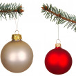 Set of Christmas Balls isolated on white — Stock Photo