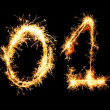 2011 made of sparkler - Stock Photo