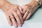 Senior hands — Stock Photo