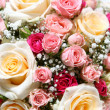 Beautiful fresh wedding flowers ih hands - 图库照片