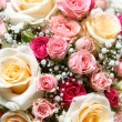 Beautiful fresh wedding flowers ih hands - Stock Photo