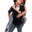 Young and attractive happy couple — Stock Photo #4173184