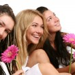 A group of beautiful young womans — Stock Photo