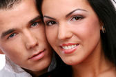 A young and attractive happy couple — Stock Photo