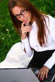 Bella giovane studentessa — Foto Stock