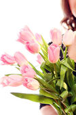 Fresh and beautiful pink tulip — Stock Photo
