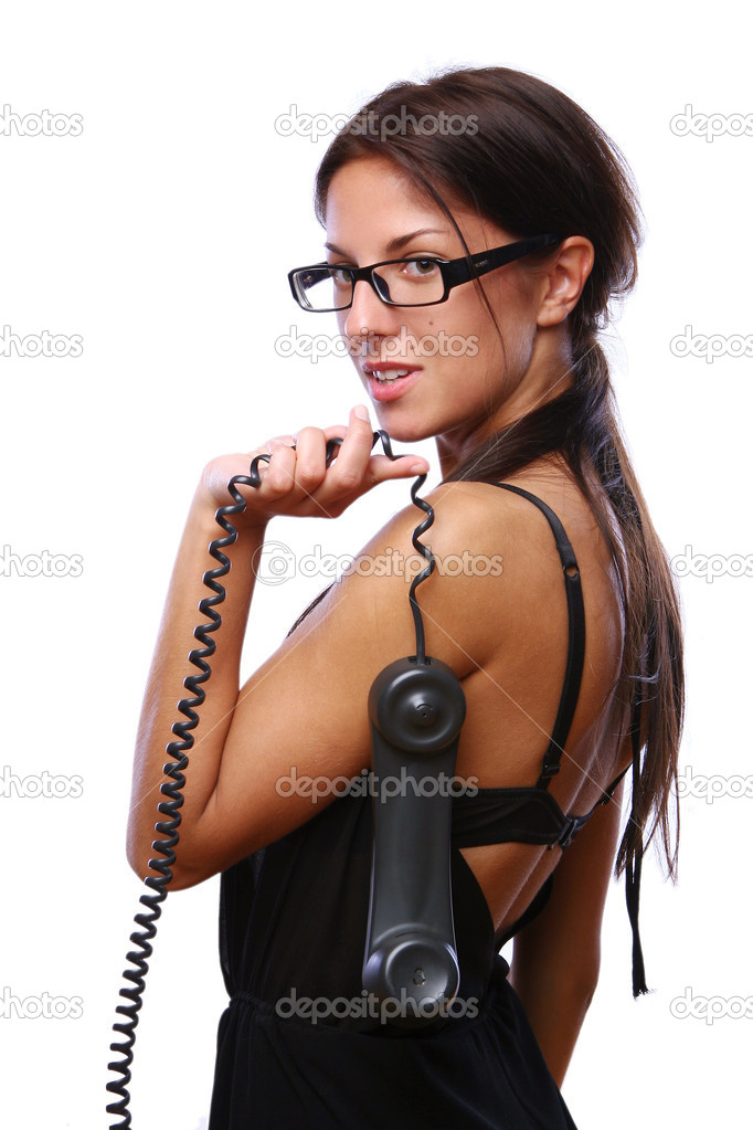 A beautiful business woman calling by the phone — Stock Photo #4173805
