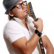 A young attractive man with guitar — Stock Photo