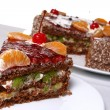 Dessert fruitcake — Stock Photo