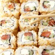 A fresh and tasty sushi roll — Stock Photo