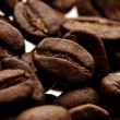A brown background ot fresh coffee — Foto Stock