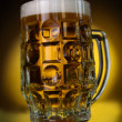 A light beer cup on black - Stock Photo