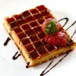 Waffles with strawberry — Stock Photo #4197287