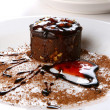 Dessert cake with chocolate and jam — Foto Stock