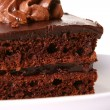 Sweet chocolate fruitcake with cherry — Foto de Stock