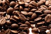 Brązowym tle ot kawę — Zdjęcie stockowe