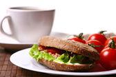 マグロと野菜と新鮮な sanswich — ストック写真