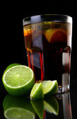 A fresh ice tea with ice — Stock Photo