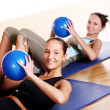 Group  doing fitness exercises - Foto de Stock