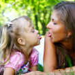 Sweet and beautiful girl with mom — Stock Photo #4300718