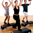 Group doing fitness exercises — Stock Photo #4300739