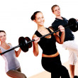 Group doing fitness exercises — Stock Photo #4300741