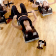 Group doing fitness exercises — Stock Photo #4300747
